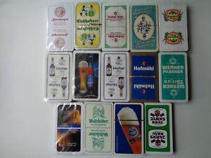 "14x Schafkopf/Tarock/Skat/Spielkarten mit ""verschiedener Brauereiwerbung"""