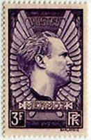 "FRANCE STAMP TIMBRE N° 338 "" AVIATEUR JEAN MERMOZ  3 F LILAS "" NEUF x TB"