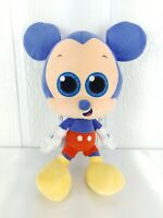 "Disney Mickey Mouse Blue Plush 14"" Stuffed Animal Big Head Glitter Eyes"