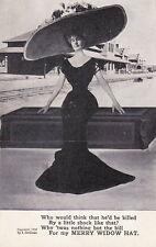 MERRY WIDOW HAT ~ (10 POST CARDS) ~ c. - 1908