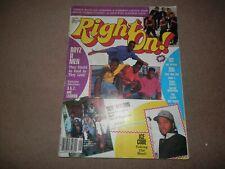 Right On Magazine Rap Hip Hop January 1992 Public Enemy Ice Cube