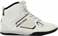 Gorilla Wear Troy High Tops - White | Bodybuilding Trainers / Shoes |
