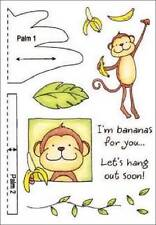 INKY ANTICS HoneyPop Clear Stamps MONKEY I'm Bananas For You