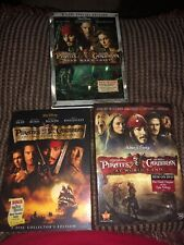 Pirates Of The Caribbean Movies 1-3 Dvds