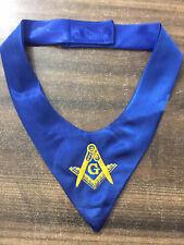 MASONIC MASTER MASON CRAVAT TIES, BLUE TIES, Fraternity Freemason NEW!