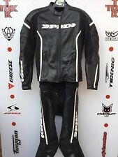"Spidi RR two piece race suit without hump uk 42 Euro 52 jacket 30"" waist jeans"