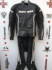 """Spidi RR 2 piece race suit without hump uk 42 Euro 52 jacket 30"""" waist jeans"""