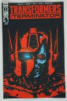 Transformers VS The Terminator #1 Cover A First Print NM IDW Comics 2020