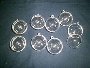 Acrylkugeln, 8 Stück, Ø 4 cm, Kunststoff, teilbar, mit Aufhänge-öse