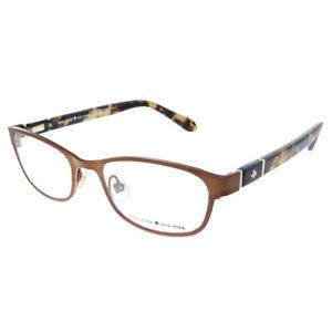 New Kate Spade Jayla FWA Brown Metal Rectangle Eyeglasses 48mm