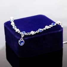 Fashion Imitation Rhinestone Mystic Love Heart Crystal Bracelet Jewelry Gifts Blue