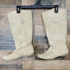 """Dream out Loud """"Hopscotch"""" tan faux suede boots Size 10"""