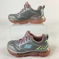 Skechers Skech-Air Radiant Sneakers Shoes Girls 11 Memory Foam Grey Pink 81804L