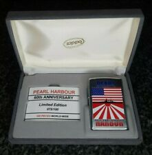 ZIPPO, PEARL HARBOUR, 60TH ANNIVERSARY LIGHTER, LIMITED TO 100 (EXTREMELY RARE)