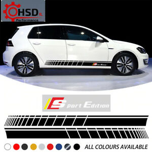 KK Vinyl Door Side Skirt Stripes For Volkswagen VW Golf Polo Touran B5 B6 B7 +