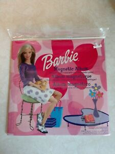 BARBIE Magnetic Album, Mattel - 40 Pieces - Create Your Own Scenes - Age 3+