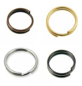 ALL SIZE& COLOR Single Double Loop Metal Split Jump Ring Findings Keyring Making