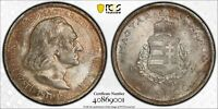 PCGS MS-63 HUNGARY SILVER 2 PENGO 1936 (UNDERGRADED DEEPLY TONED GEM!)