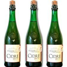 3 bouteilles cidre brut