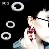 Big Large Giant Acrylic Captive Bead Ring Ear Tunnel Plug Guauge Piercing 2g 0g