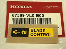 QTY 17 NEW OEM HONDA LAWN MOWER BLADE CONTROL MARK 87589-VL0-B00
