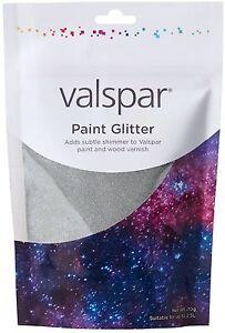 VALSPAR & HEMWAY Paint Glitter SILVER Shimmer Wall Covering Sparkle Home Decor