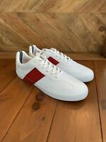 Nautica Mens Shoes White Sneakers Lace Up White Red Mens Size 12