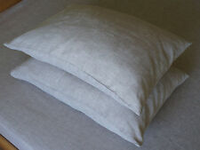 Set of 2 Linen Pillowcases Sham Cover Oatmeal 100% Flax Standard Queen King Euro