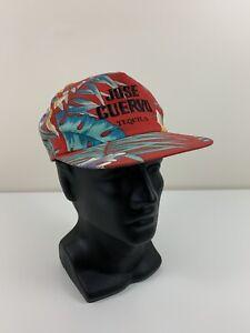 VTG Jose Cuervo Tequila Hawaiian Print Snap Back Hat Floral 80s Cap USED