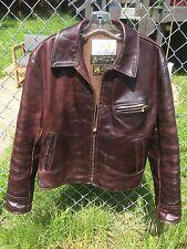 Aero Leather Clothing jacket size 42  Brown Chromexcel.