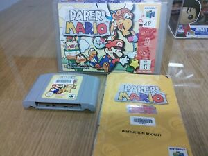 Paper Mario N64 AUS PAL Boxed + Manual - Ex Rental - VG Condition - Free Post