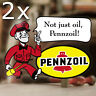 2x Stück Pennzoil Man Aufkleber Sticker Autocollant Pegatina Old School Hot Rod