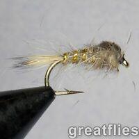 1 dozen (12) - Gold Ribbed Hare's Ear - NATURAL