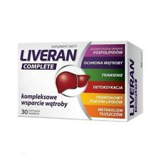 LIVERAN Complete 30 kaps. WĄTROBA trawienie detox LIVER digestion