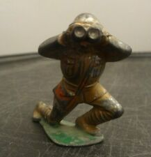 BARCLAY/MANOIL LEAD FIGURE ARMY SOLDIER WITH BINOCULARS 1930s NICE L@@K!