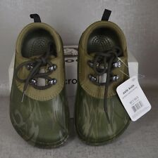 aa07baee0 CROCS Axle CAMO Army Water Clog Junior M 1 W 3 Lace Shoes Hunt Camp Fish
