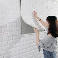 3D Brick Pattern Wallpaper Sticker Living Room Modern Wall Background TV Decor