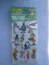 Vintage Rocky and Bullwinkle Toy Rub-A-Doos Magic Transfers.Boris Natasha Dudley