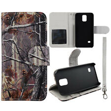 For Samsung Galaxy Note 4 Conifer Camouflage Wallet Leather Case Cover