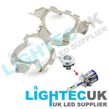 2 H7 LED ADAPTER HOLDER RETAINER HEADLIGHT BULB MERCEDES BMW AUDI VW TWIST CLIP