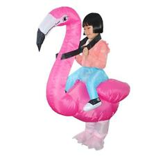 Kids Flamingo Inflatable Costume Funny Halloween Cosplay Blowup Outfit Hot E5Z8