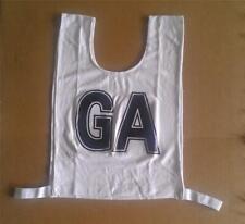 Netball Bibs - Brand New - Mock Mesh - Senior Size - White / Black letters