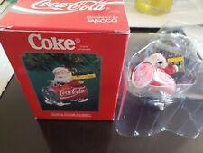 New ListingEnesco Christmas Ornament: Coca-Cola: Dashing Through The Snow New Old Stock