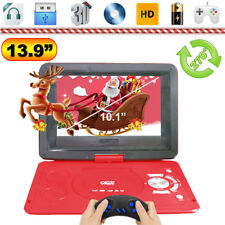 """13.9"""" Inch Portable DVD Player Kids Xmas Game Swivel Screen In Car Charger USB"""