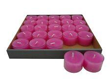 25 Teelichter Acryl Cup Pink Nightlights 8 Std Brennd transparente Hülle Wenzel