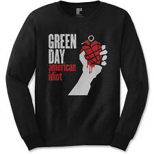 Official Green Day - American Idiot - Men's Long Sleeved Black T-Shirt