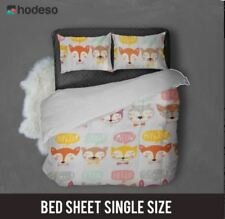 Hodeso Bedsheet Fox Design Single Size With FREE Pillow Case