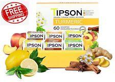 Tipson Organic Turmeric Herbal Tea - 6 Assorted Flavors -60 tea bag.100% organic