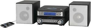 CD Stereo Player Home Music System Compact AM FM Mini Shelf Compact Bookshelf