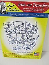 Aunt Martha's Iron On Transfers #3553 Colonial Girl Tea Towel Motifs New
